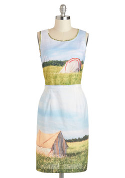 This quirky dress reminds me of my days spent camping...and makes me want to go again, soon! You can find the dress here.