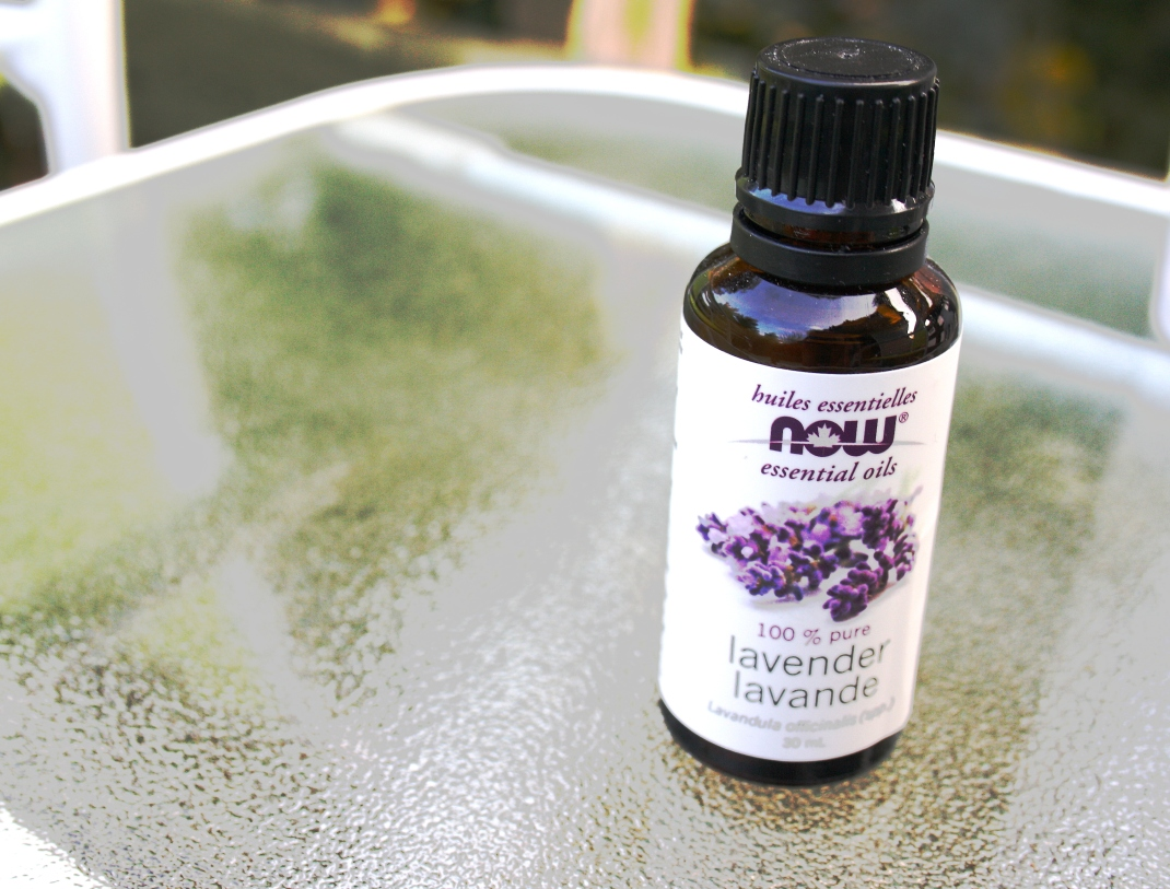 Lavender essential oils - can be found at health food stores, Bulk Barn