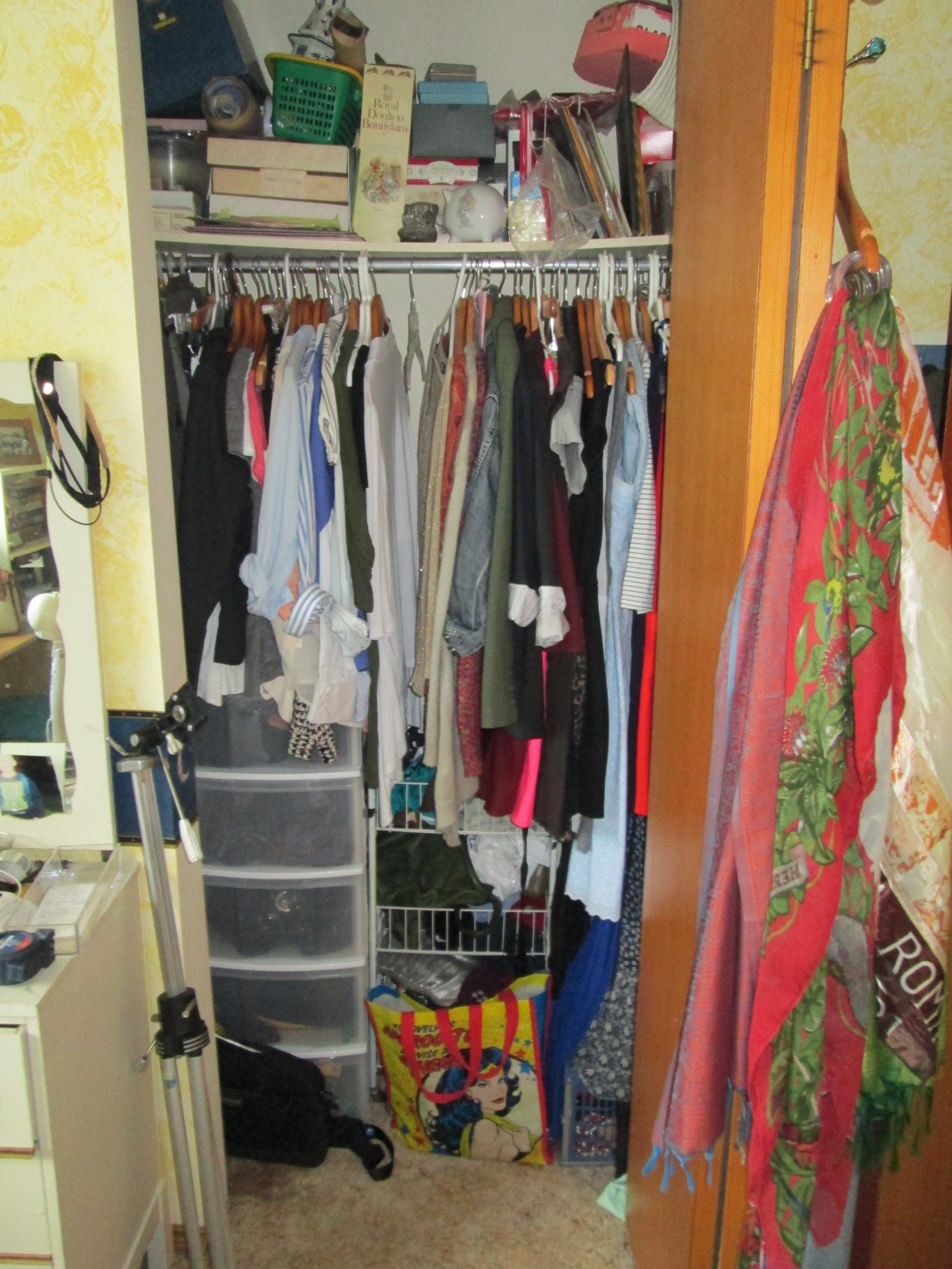 Before: closet. Ugh. Embarassing.