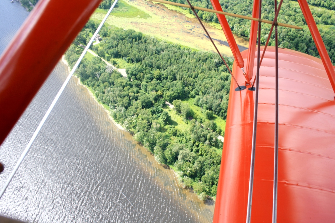Great view from the biplane!